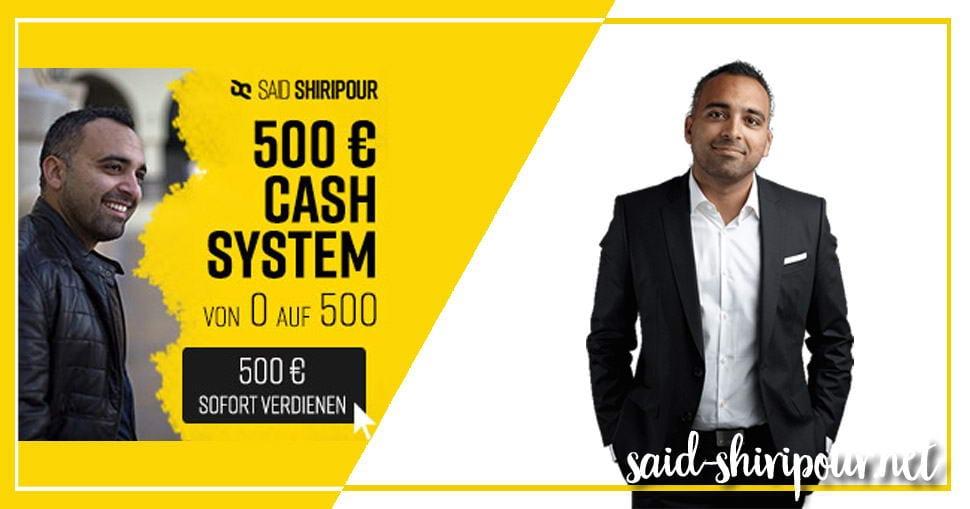 500 Euro Chashsystem